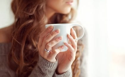 huid en koffie